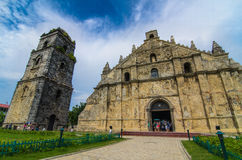 San Agustin Church. (Paoay, Ilocos Norte). Augustinian missionaries founded the parish in 1593, with the cornerstone of the chuch laid in 1704. The church was Stock Photo