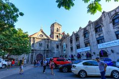 San Agustin Church, a Roman Catholic church under the auspices of The Order of St. Augustine Royalty Free Stock Image