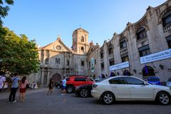 San Agustin Church, a Roman Catholic church under the auspices of The Order of St. Augustine Stock Image