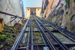 San Agustin Funicular w Valparaiso, Chile Obraz Royalty Free