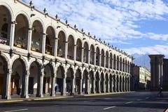 San Agustin portail à Arequipa, Pérou Image libre de droits