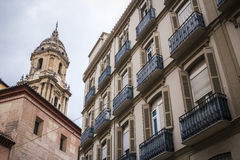 San Agustin Street, Malaga. San Agustin Street is located on the historic and old town of Malaga Royalty Free Stock Images