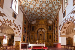 San Agustin Temple Bogota Colombia. The main nave of the historical San Agustin Temple church in downtown Bogota, Colombia royalty free stock photo