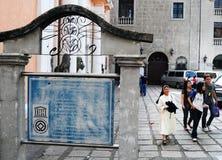 San Agustine kyrka i Manila arkivfoto
