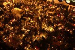 SAN ANDRÃ ‰ S MIXQUIC MEKSYK, LISTOPAD, - 2012: Roczni uczczenia znać jako ` losu angeles Alumbrada ` podczas dnia nieboszczyk obrazy royalty free