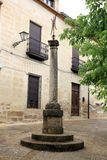 San Andres church square  Baeza Jaen Spain Stock Photo