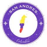 San Andres circular patriotic badge. Stock Photo