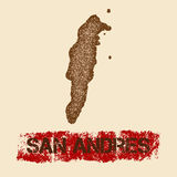 San Andres distressed map. Stock Photography