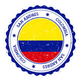 San Andres flag badge. Stock Images