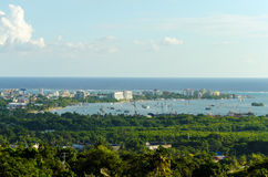 San Andres Harbor in Colombia. The harbor of San Andres city in San Andres y Providencia, Colombia stock photos