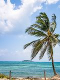 San Andres Island Colombia Beach Scene South America. Very much one of the main tourist attractions and points of interest in the area Royalty Free Stock Photos