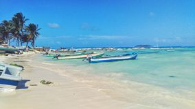 San Andres Main Beach royalty free stock photography