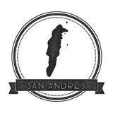 San Andres map stamp. Royalty Free Stock Photo