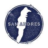 San Andres vector map. Royalty Free Stock Photo