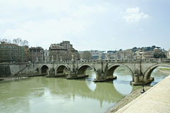 San Angelo Bridge in Rome Royalty Free Stock Photography