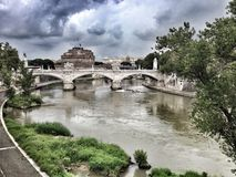 San Angelo castle an Vittorio Emanuele II bridge Royalty Free Stock Photo