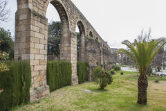 San Anton Aqueduct, Plasencia, Caceres, Spanien Royaltyfria Bilder