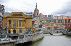 San Anton Bridge in Bilbao Stock Photos