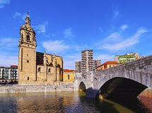 San Anton Church in Bilbao Stock Photos