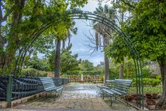 Malta San Anton Garden. The San Anton Gardens is located in Attard Malta and it has a large variety of beautiful flowers and plants Stock Photos