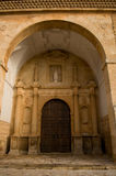 San Antonio Abad church in El. Toboso. Spain. Plateresque church. Cited in Quijote Stock Photos