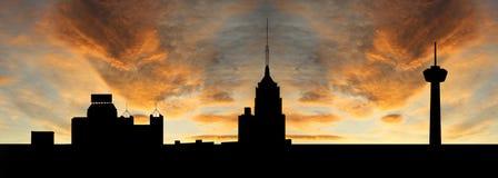 San Antonio al tramonto illustrazione di stock