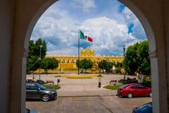 San Antonio av den Padua kloster på Izamal royaltyfria foton