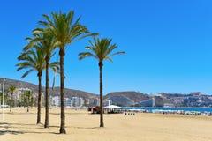 San Antonio Beach in Cullera, Spanien lizenzfreie stockbilder