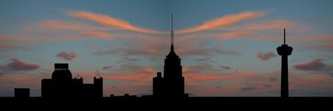 San Antonio bij zonsondergang Stock Afbeelding