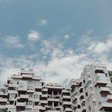 San Antonio Buldings. High building just in front of San Antonio's bay in Ibiza Stock Photo