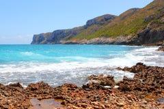 San Antonio cape blue sea from Las Rotas Denia Stock Image