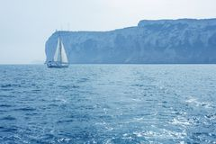 San Antonio Cape sailing sailboat in Denia Stock Photography