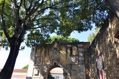San Antonio Castle i Lissabon Arkivfoton