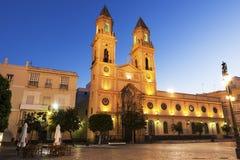 San Antonio Church a Cadice fotografia stock libera da diritti