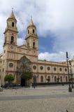 San Antonio church in Cadiz,Spain. San Antonio church and square in Cadiz with a cloudy sky royalty free stock photography