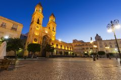 San Antonio Church i Cadiz arkivfoton