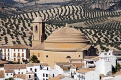 San Antonio Church, Montefrio, Andalusia. Royalty Free Stock Images