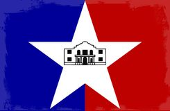 San Antonio City Flag. The flag as adopted by the city of San Antonio stock illustration