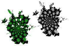 San Antonio city - map is designed cannabis leaf. San Antonio city United States of America, USA, U.S., US, United States cities, usa city -  map is designed vector illustration