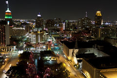 San Antonio city at night at holiday season Stock Image