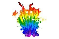 San Antonio city United States of America, USA, U.S., US, United States cities, usa city - map is designed rainbow abstract. Colorful pattern, City of San stock illustration