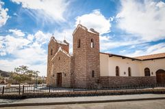 San Antonio de Padua Church - San Antonio de Los Cobres, Salta, Argentinien stockfoto