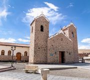 San Antonio de Padua Church - San Antonio de los Cobres, Salta, Argentina. San Antonio de Padua Church in San Antonio de los Cobres, Salta, Argentina stock photo