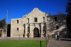 San Antonio, EUA o 18 de dezembro de 2015: O Alamo em San Antonio, foto de stock royalty free