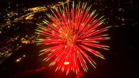 San Antonio firework show royalty free stock image