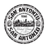 San Antonio grunge rubber stamp Royalty Free Stock Photos