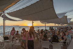 San antonio ibiza sunset Royalty Free Stock Image