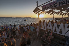 San antonio ibiza sunset Stock Photo