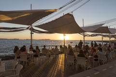 San antonio ibiza sunset Stock Photography