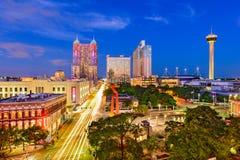 San Antonio, il Texas, orizzonte Fotografia Stock Libera da Diritti